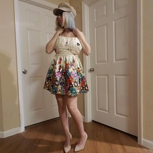 Alyn Paige NY Dress Size 3/4 Beige/Floral Print